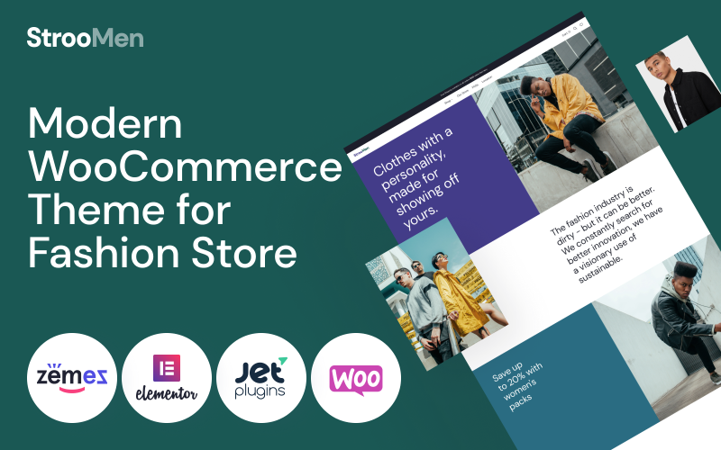 StrooMen - Mens Fashion eCommerce Store WooCommerce Theme