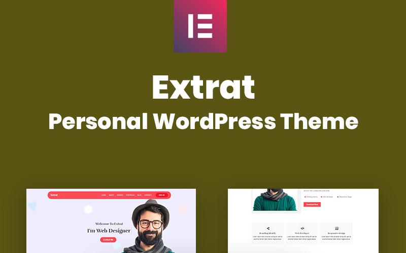 Extrat - Tema WordPress con respuesta personal
