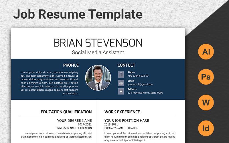Plantilla de CV de trabajo profesional