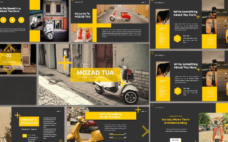 Presentación de Mozad Tua - Plantilla de Keynote