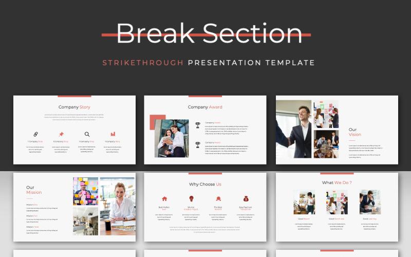 STRIKETHROUGH - Presentación - Plantilla de Keynote