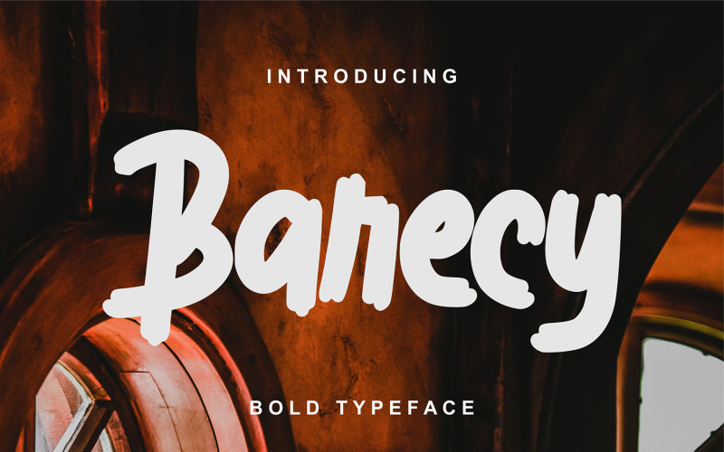 Barecy   Fuente Bold Typeface