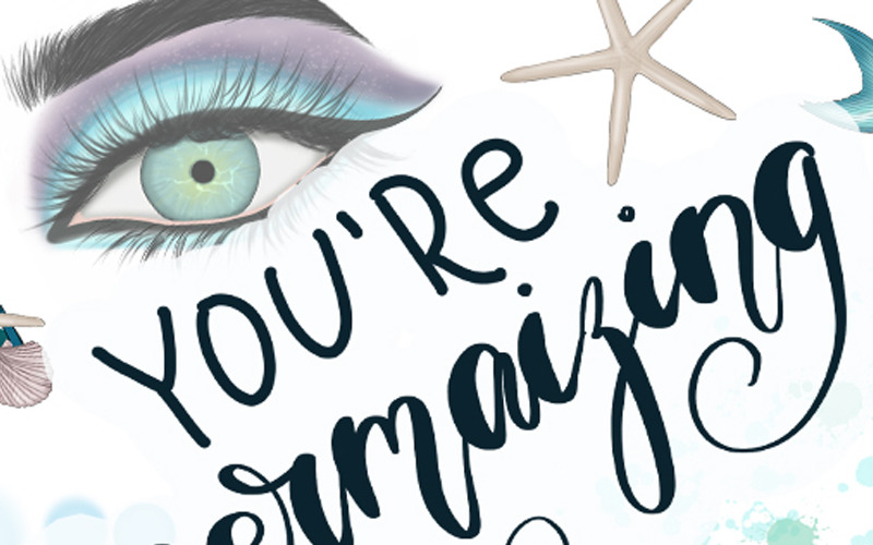 Estás Mermaizing Clipart & Patterns - Ilustración