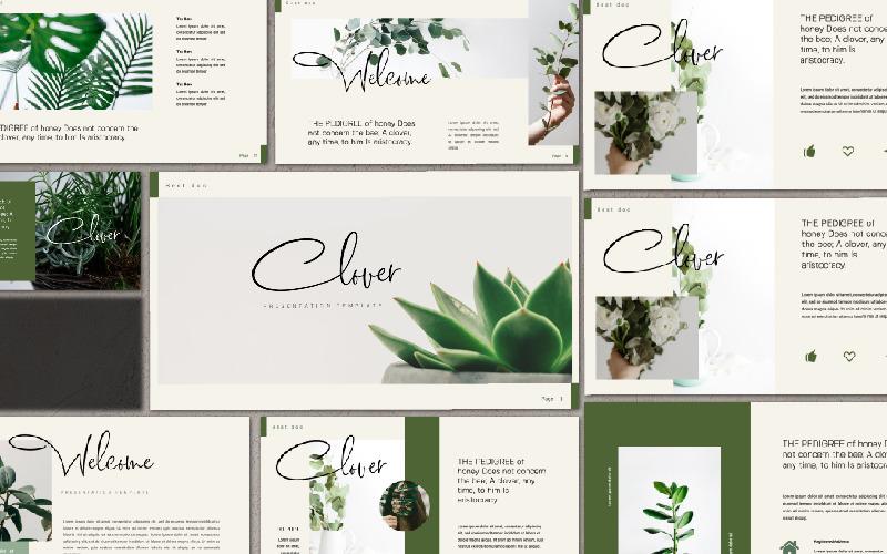 Presentación de Clover - Plantilla de Keynote