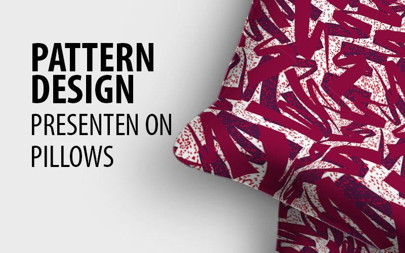 Scattered random ribbon repeat design Pattern