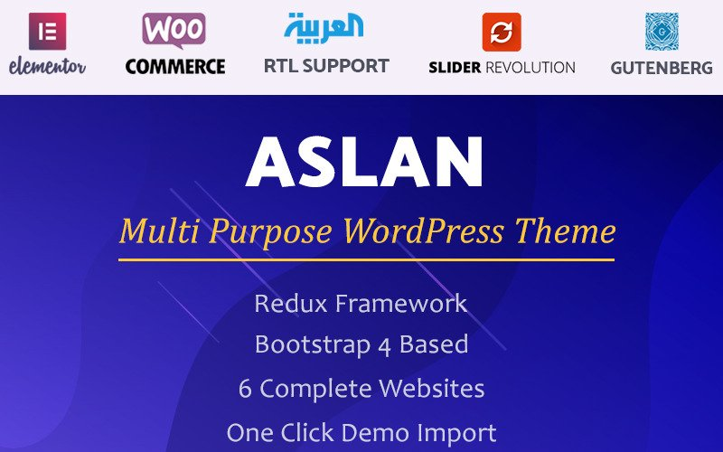 Aslan   Tema de WordPress de Elementor multipropósito