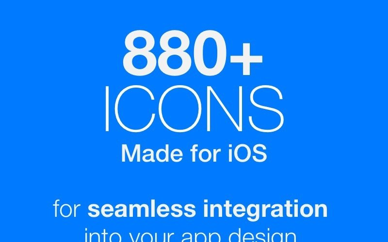 880 iconos creados para iOS