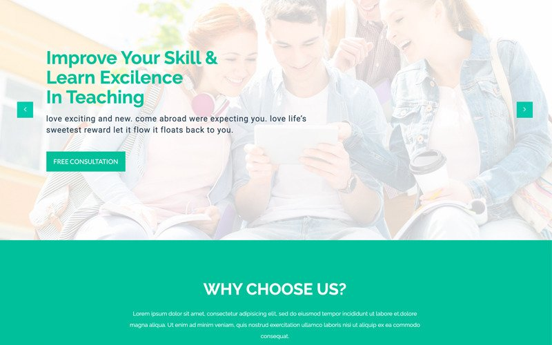 LMS Education - Html5 Website Template