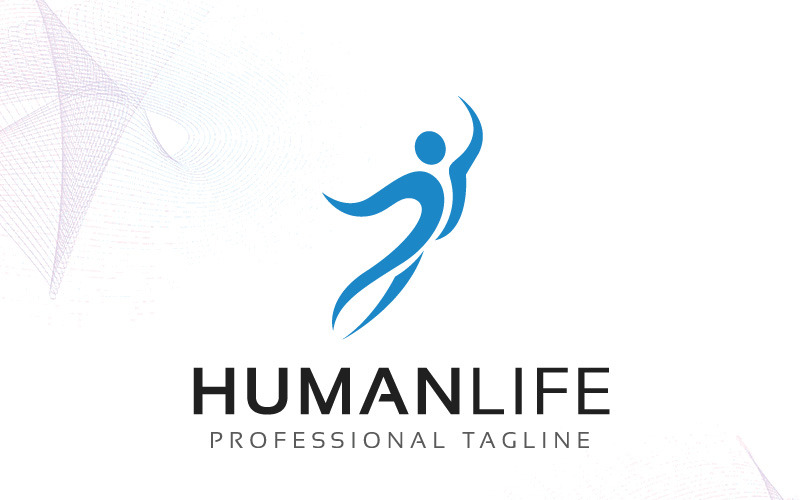 Plantilla de logotipo de HumanLife