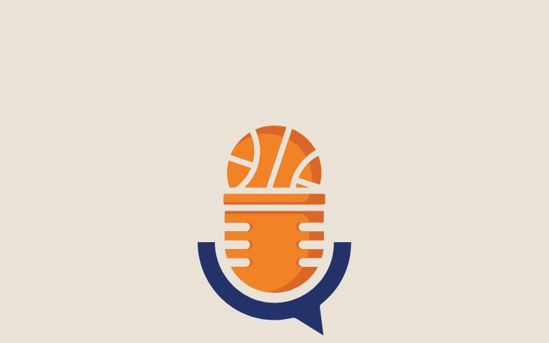 Plantilla de logotipo de podcast deportivo