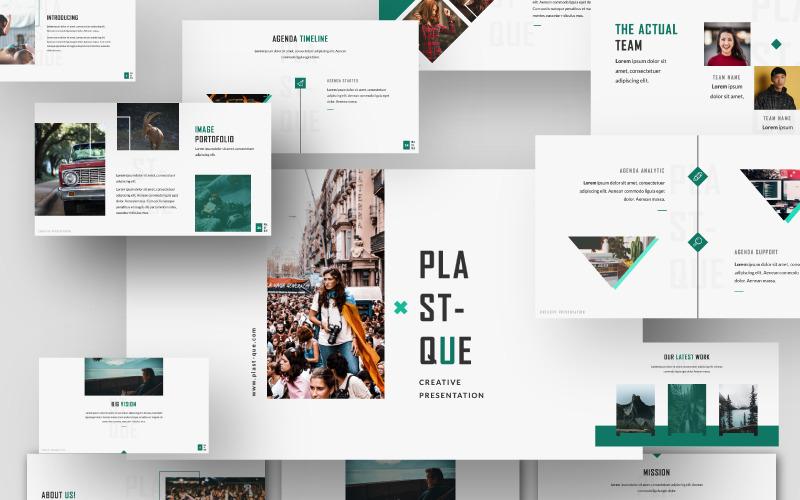 Plantilla de PowerPoint - presentación de plastico
