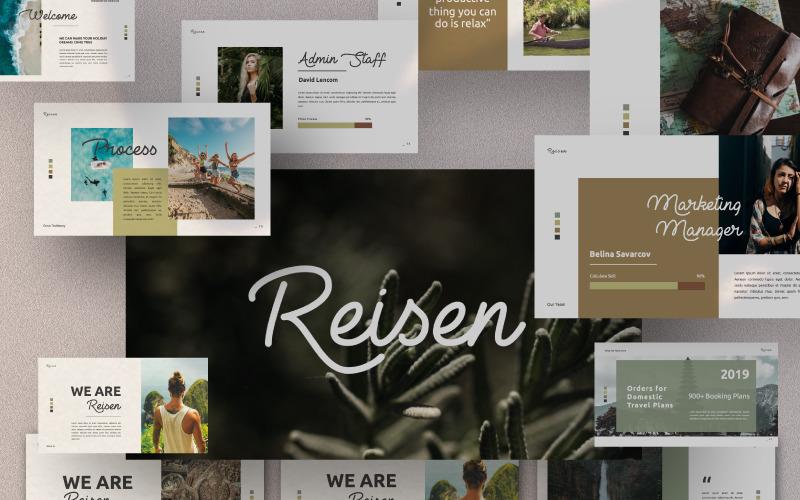 Plantilla de PowerPoint - presentación de REISEN