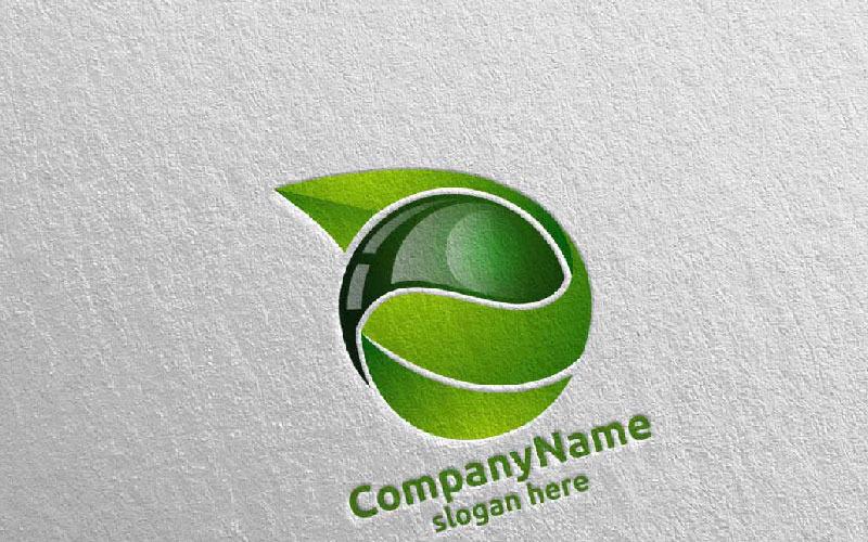 Шаблон логотипа дизайн капли воды и очистки