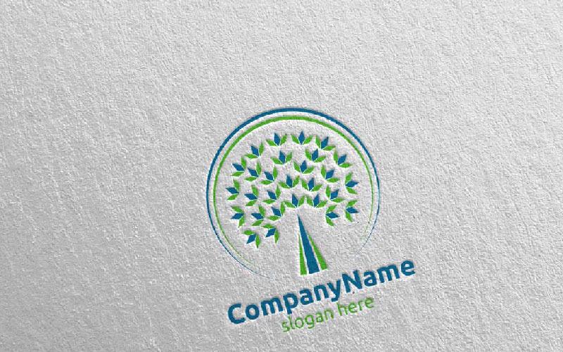 Шаблон логотипа финансовой концепции инвестиционного или маркетингового консалтинга