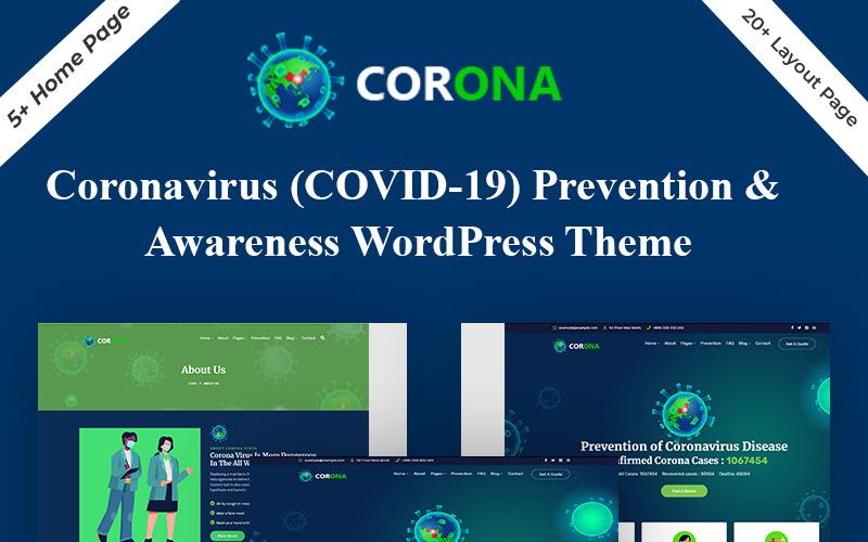 Тема WordPress для предотвращения коронавируса (Covid-19)