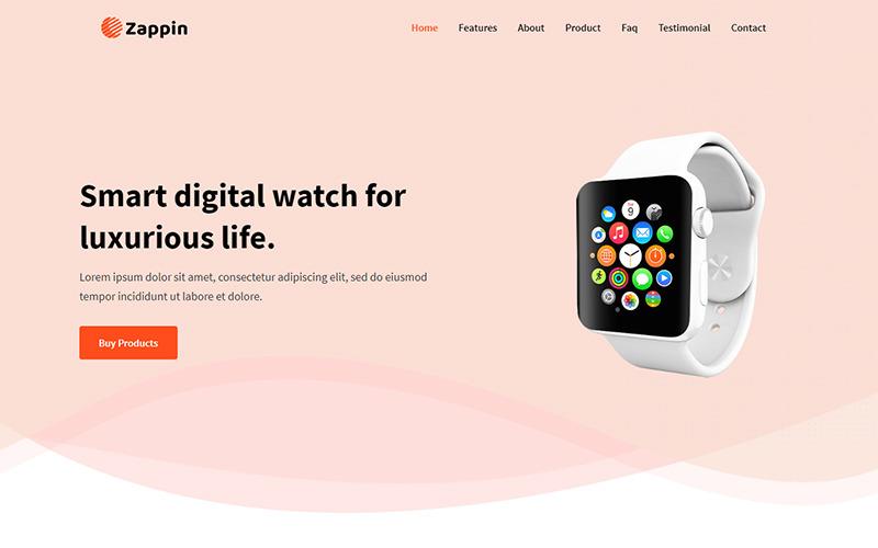 Zappin - Plantilla de página de destino del producto
