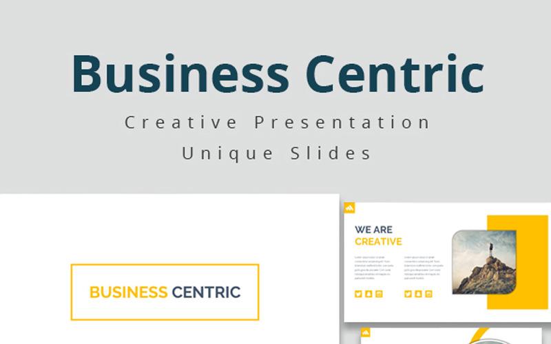 Plantilla de PowerPoint - centrada en los negocios