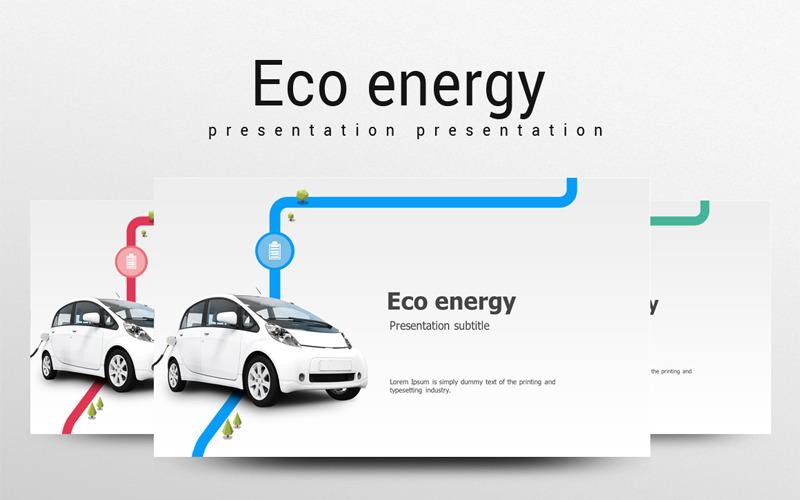Plantilla de PowerPoint - coche verde