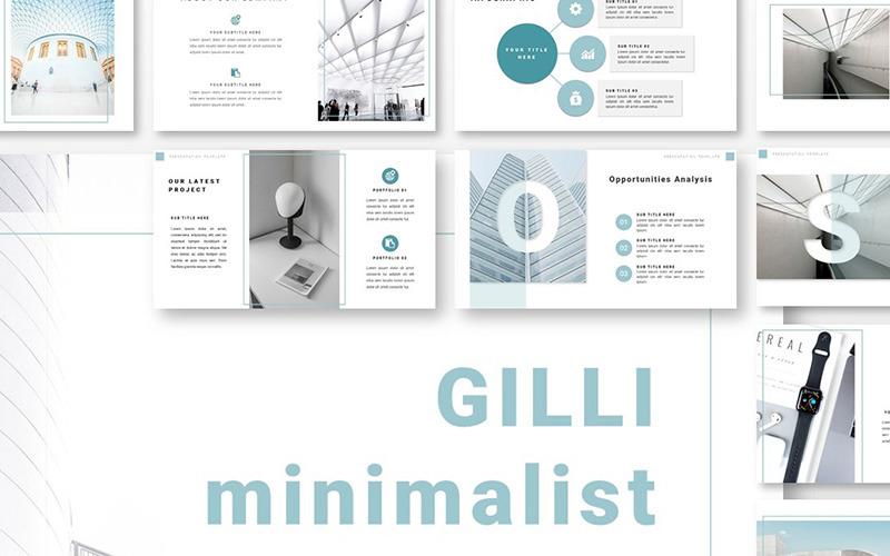 Plantilla de PowerPoint - minimalista gilli