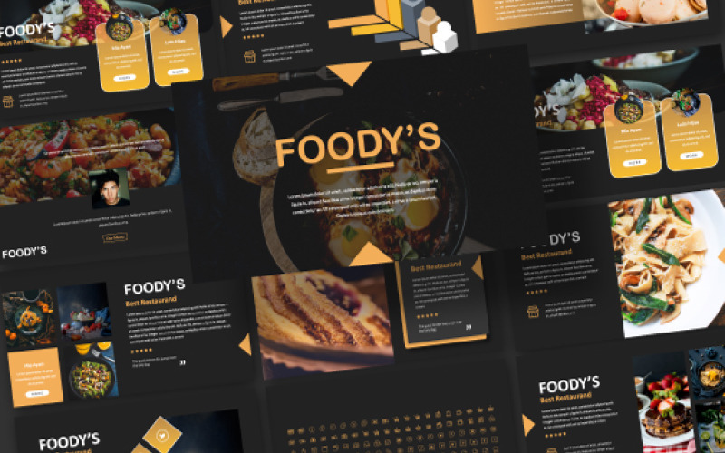 Plantilla de PowerPoint - presentación de alimentos