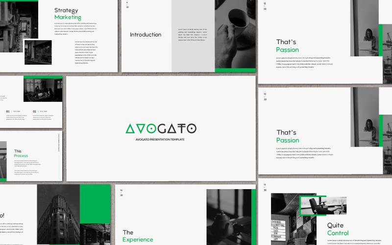 Plantilla de PowerPoint - presentación de AVOGATO