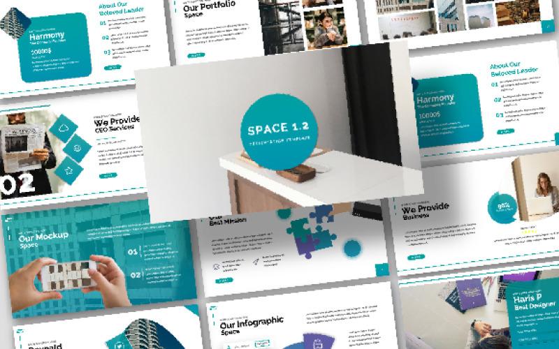 Plantilla de PowerPoint - presentación espacial