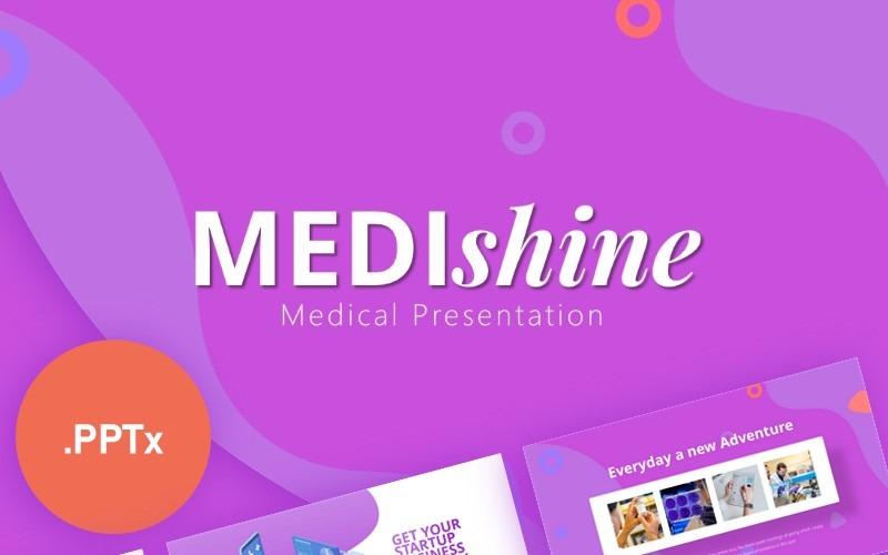 Plantilla de PowerPoint - presentación médica medishine