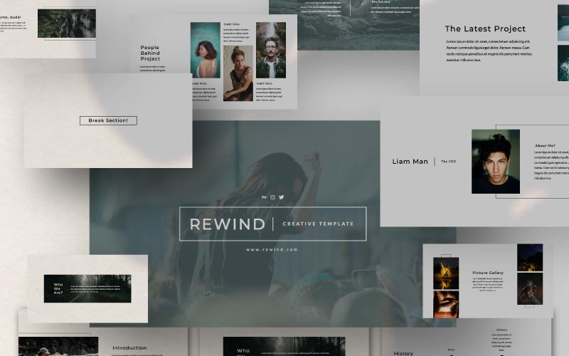 Plantilla de PowerPoint - Presentación REWIND