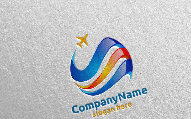 Шаблон логотипа Иллюстрация 8 для путешествий и туризма