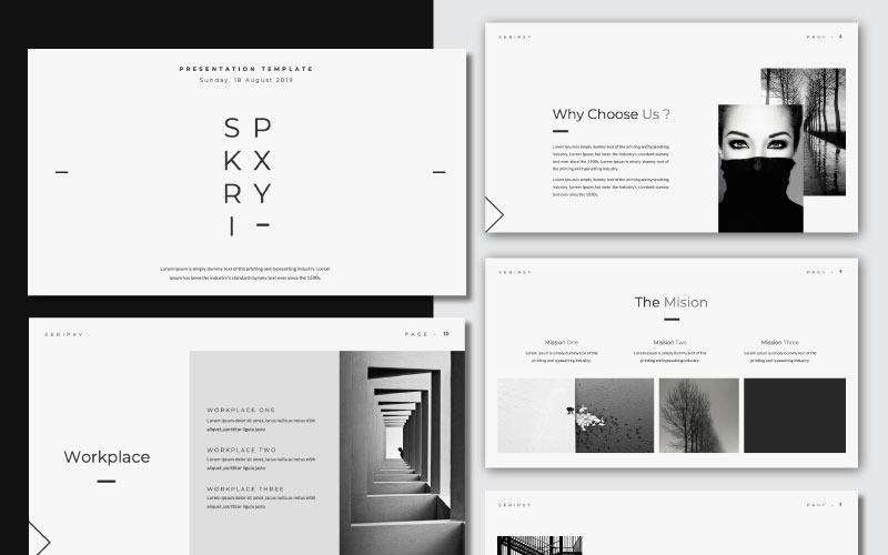 SKRIPXY - Plantilla de PowerPoint de presentación limpia