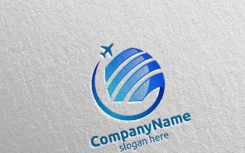 Viajes y turismo para hoteles y vacaciones Ilustración 7 Plantilla de logotipo