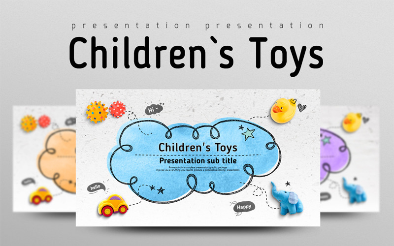 Childrens Toys PowerPoint template
