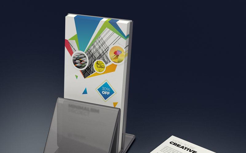 Diseño de volante DL en color azul - Plantilla de identidad corporativa