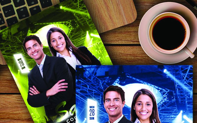 Folleto del programa de la Iglesia de usos múltiples - Plantilla de identidad corporativa