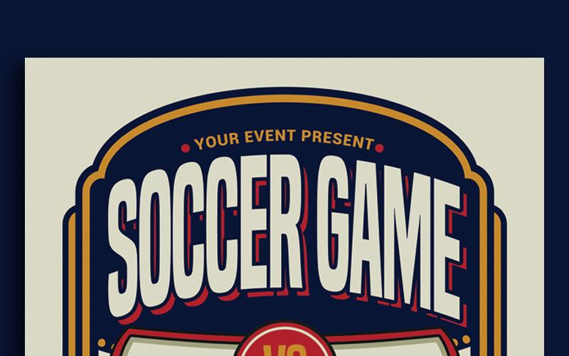 Folleto deportivo de juego de fútbol - Plantilla de identidad corporativa