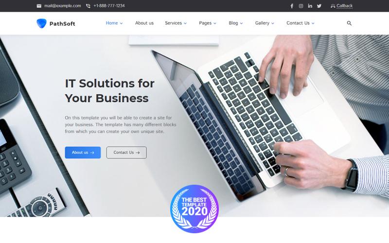PathSoft - İş Hizmetleriniz İçin BT Çözümleri WordPress Teması