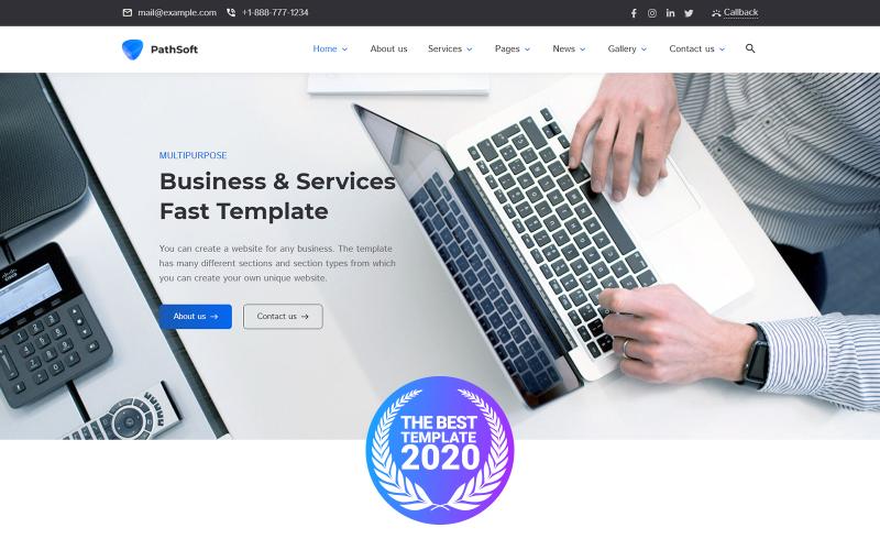PathSoft - WordPress-tema för FastSpeed Multipurpose Business & Services