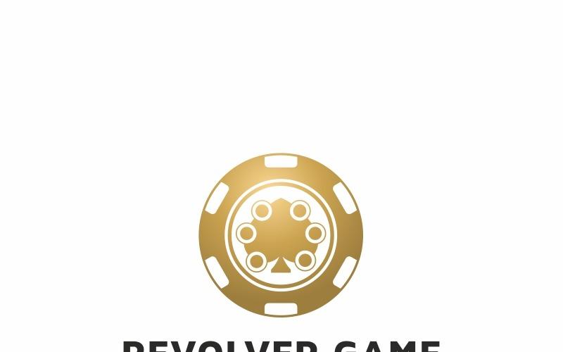 Plantilla de logotipo de juego Casino Revolver