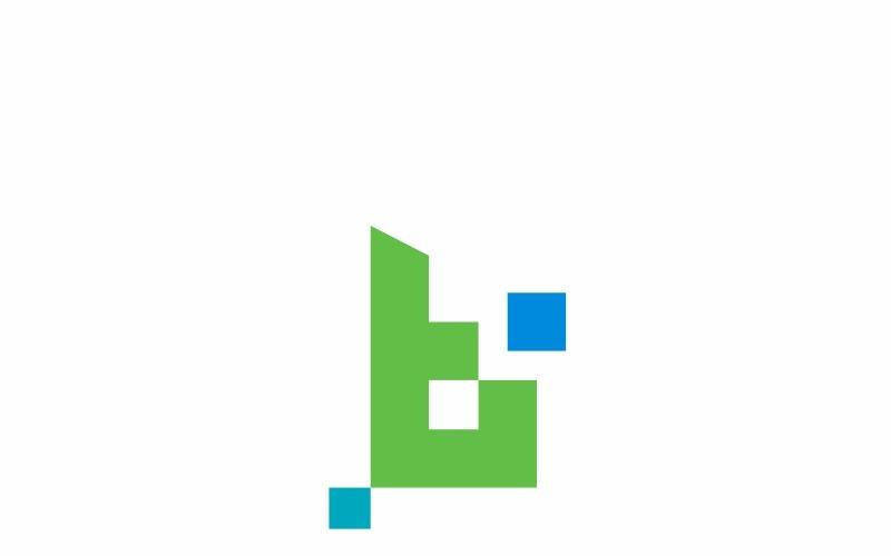 Plantilla de logotipo de letra Betawork B
