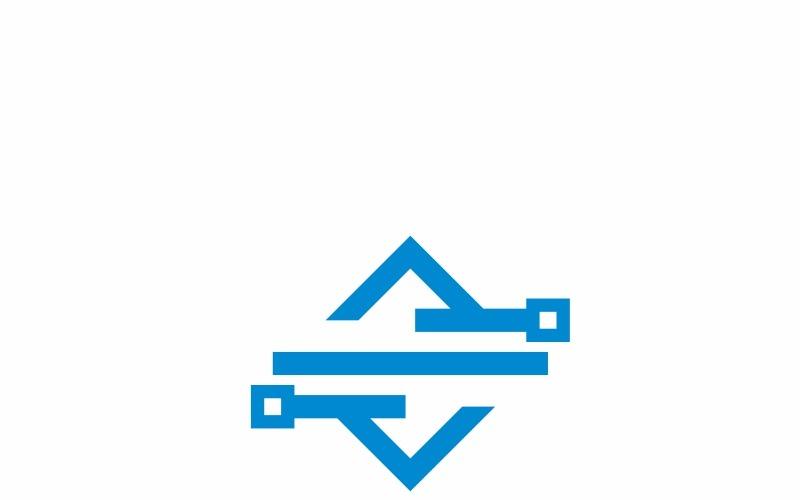 Plantilla de logotipo de Square Tech Line