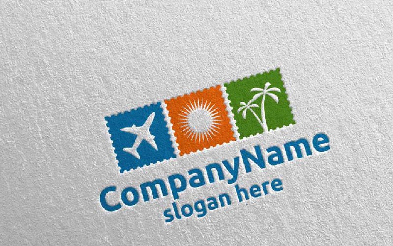 Plantilla de logotipo de viajes y turismo para hoteles y vacaciones 10
