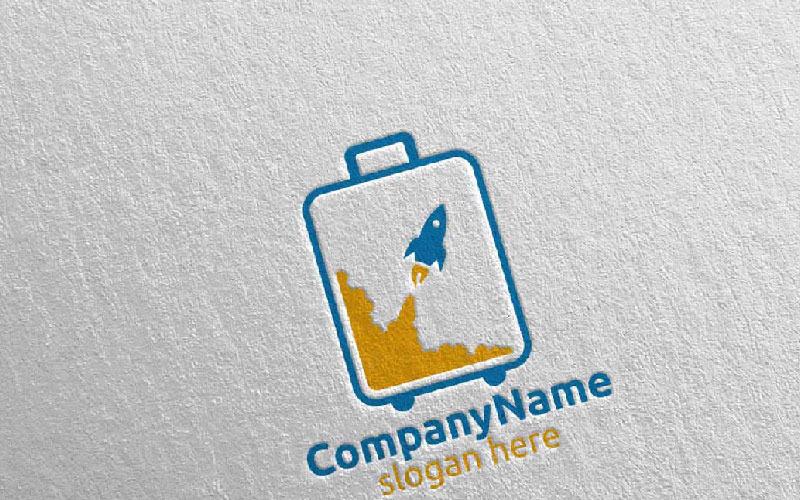 Plantilla de logotipo de viajes y turismo para hoteles y vacaciones 20