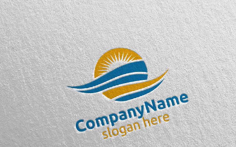Plantilla de logotipo de viajes y turismo para hoteles y vacaciones 25