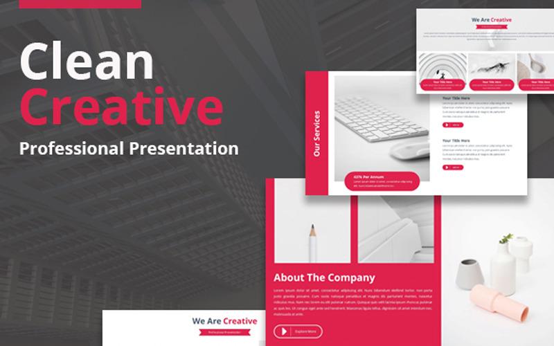 Plantilla de PowerPoint creativa limpia