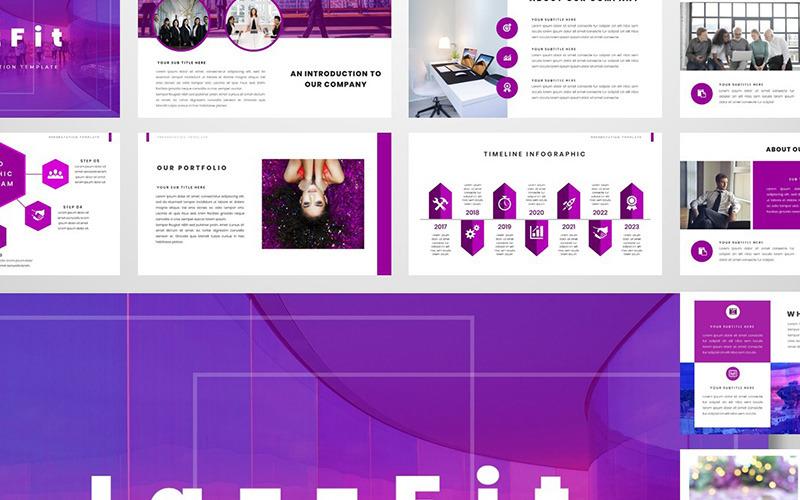 Plantilla de PowerPoint - jazzfit