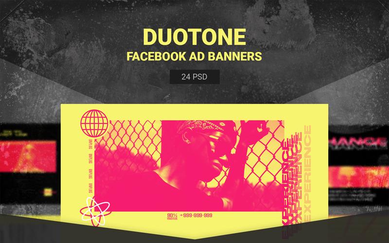 Шаблоны Duotone Facebook Ads для социальных сетей