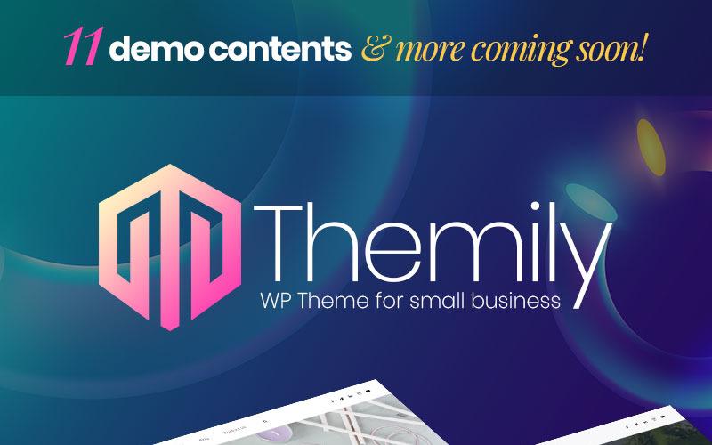 Tema de WordPress multipropósito para pequeñas empresas de Themily Pro