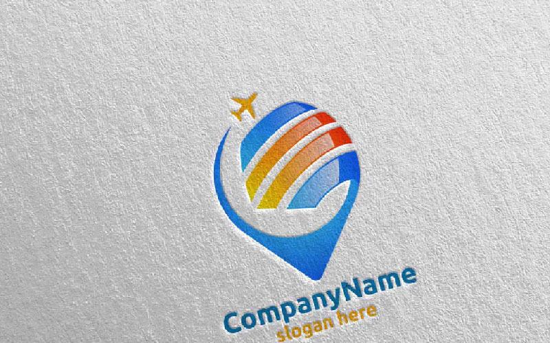 Viajes y turismo para hoteles y vacaciones Ilustración 9 Plantilla de logotipo