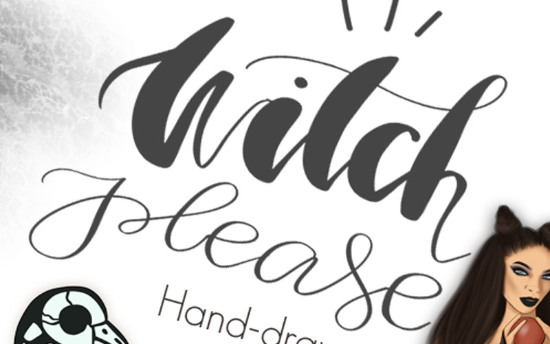 Witch Please Halloween Design Kit - Ilustración