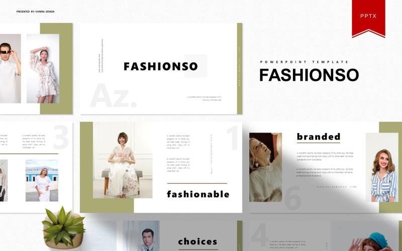 Fashionso | Plantilla de PowerPoint